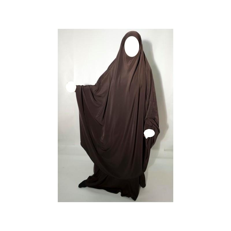 Jilbab Al Manassik - Marron chocolat
