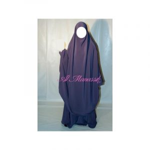 Jilbab Al Manassik - Prune lila