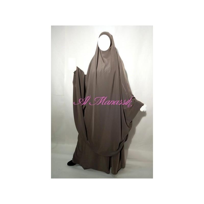 Jilbab Al Manassik - Taupe