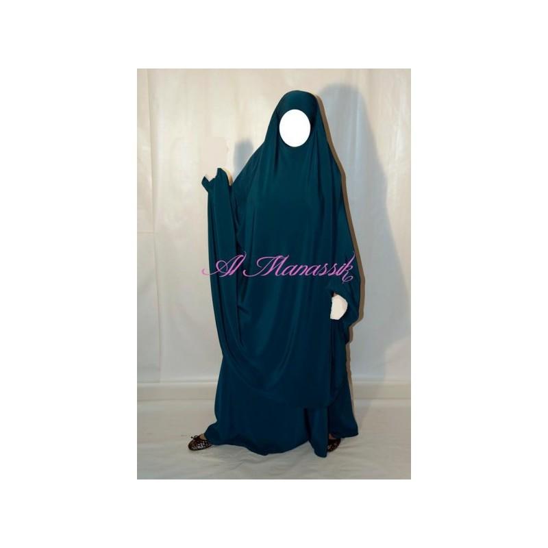 Jilbab Al Manassik - Bleu Vert