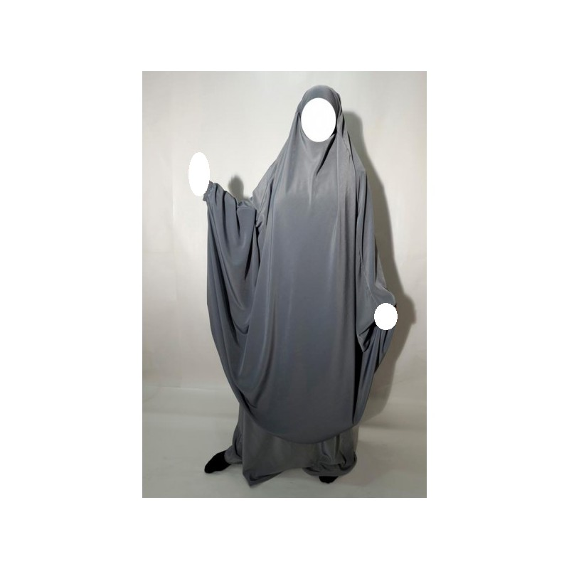 Jilbab Al Manassik - Gris clair