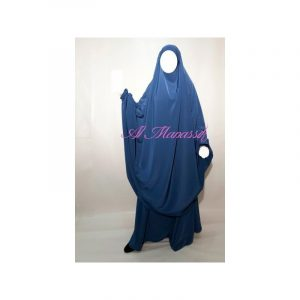Jilbab Al Manassik - Bleu indigo