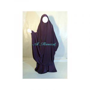 Jilbab Al Manassik - Violet aubergine