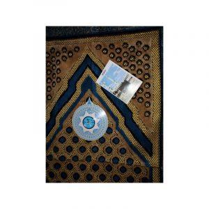 Tapis de prière avec boussole - Bleu marine