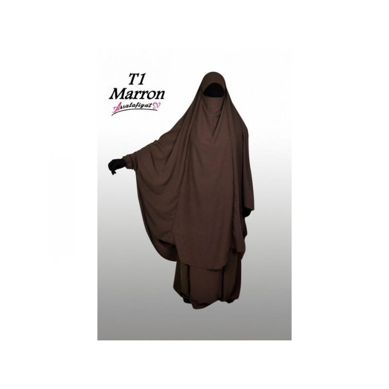 Jilbeb 2 pièces marron- As Salafiyat