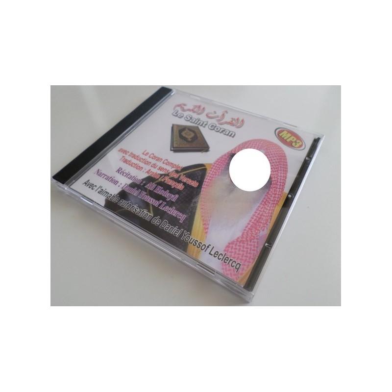 Le coran complet par Ali Al Houdhayfi traduit en français - CD MP3