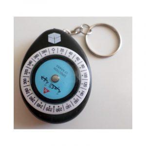 Boussole qibla porte-clé