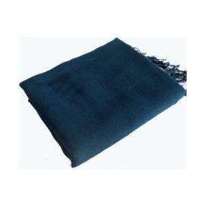 Pashmina turc - Bleu paon