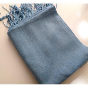 Pashmina turc - Bleu jean