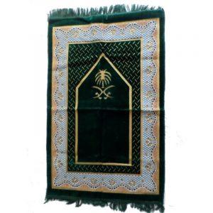 Tapis de prière bleu nuit - grande taille et confort maximal
