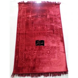 Tapis de prière Nasir rouge - ultraconfort