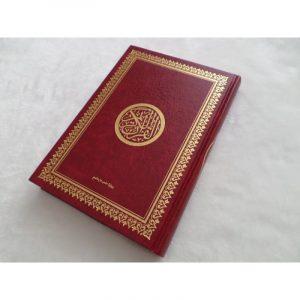 Coran rouge et doré - couverture rigide grand format