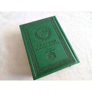 Coran vert sapin en simili daim - Mini format