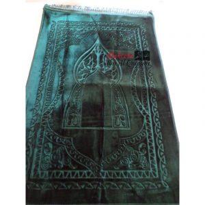 Tapis de prière Nasir vert sapin - ultraconfort + 1 boussole offerte