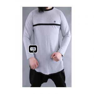 T-shirt gris clair manches longues - Qaba'il