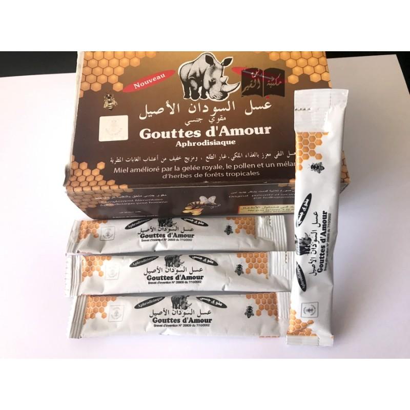 Lot de 25 sticks Gouttes d'amour - miel du soudan