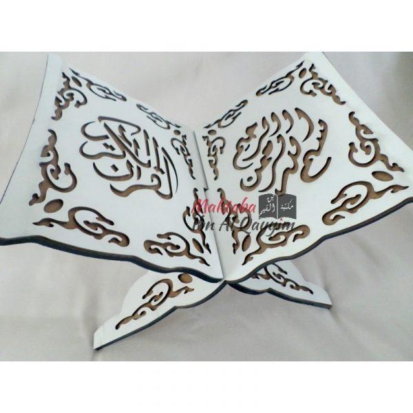 Porte coran calligraphié - blanc