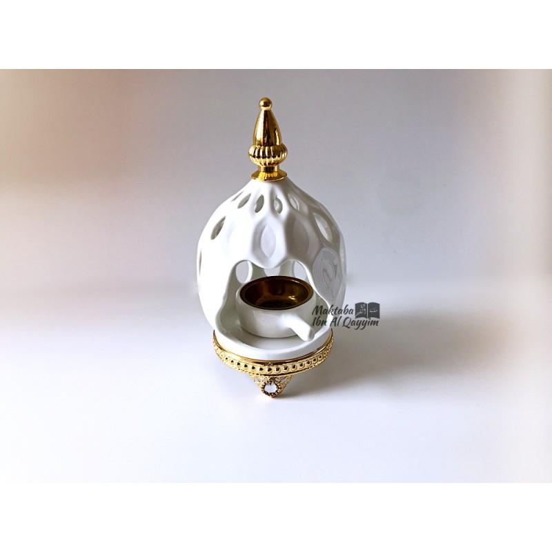 Bakhoor céramique Alma - Blanc